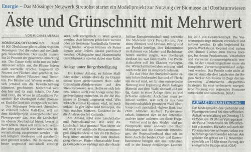 Reutlinger General-Anzeiger, 7.9.2013