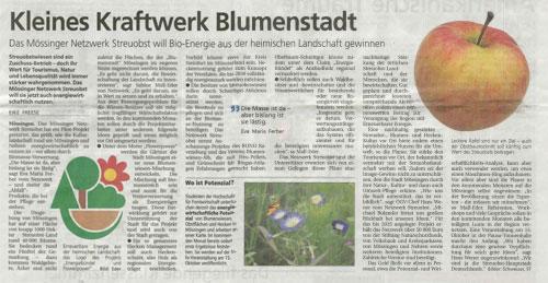 Schwäbisches Tagblatt, 7.9.2013
