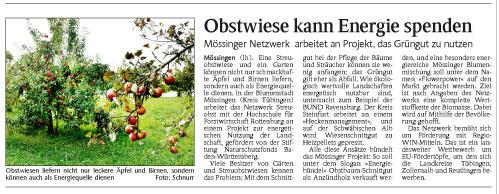 Schwarzwälder Bote, 11.9.2013
