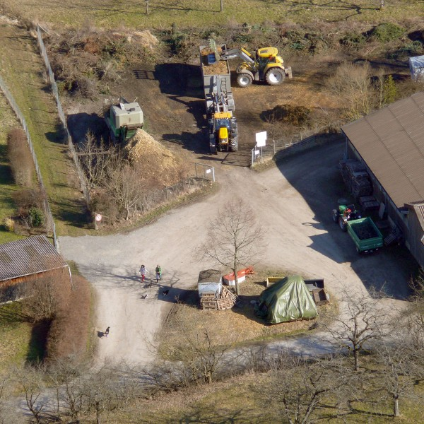 Häckselplatz Belsen (Luftbild: Hans Wener)
