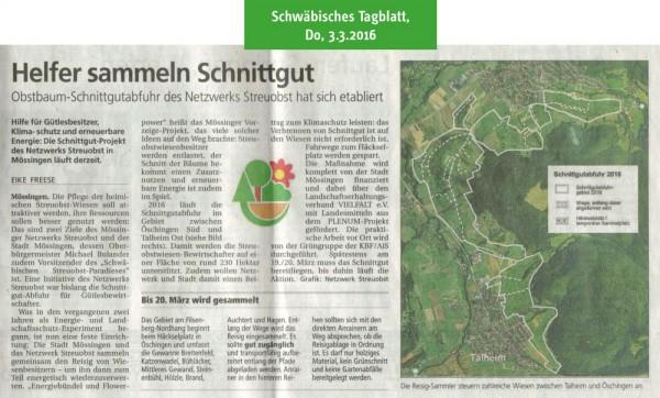 Schwäbisches Tagblatt, 3.3.2016