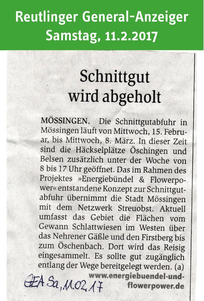 Medien energieb ndel und flowerpower for Reutlinger general anzeiger immobilien