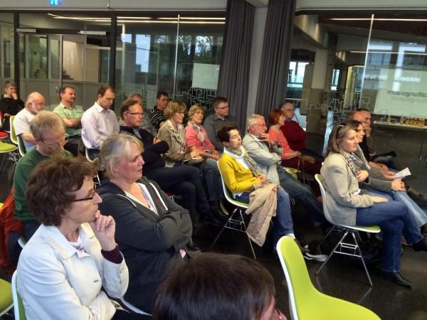 Aufmerksam wie stets: Das Publikum beim 4. Referentenworkshop in der PAUSA.