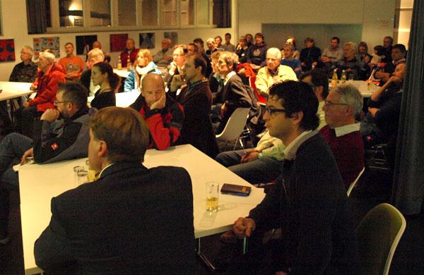 Publikum in Vortragsraum